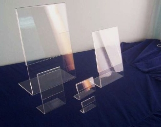"Clear Acrylic 5 X 7 Sign Holder Set of 24 ""L"" Slant Style"