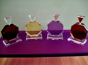 Lucite Decorative Small Pefume Bottle Prism