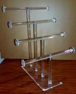 Acrylic 4 Tier Necklace & Bracelet Counter Display - Qty 6