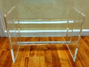 "Heavy Lucite Cocktail Table Base - 15"" high"