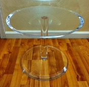 Heavy Lucite Coffee Table