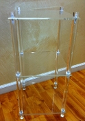 Clear Lucite  3 Tier Stand