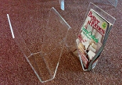 Clear Lucite Magazine Holder