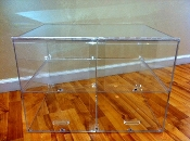 Large Acrylic Bakery Counter Display Case - 2 Shelves