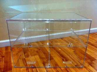Small Acrylic Bakery Counter Display Case - 2 Shelves
