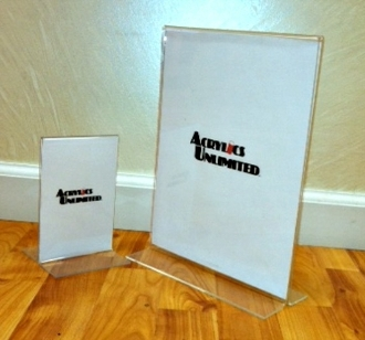 "4 X 6 Sign Holder Set of 48 ""T"" Bottom Loaded Style"