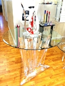 Lucite Crystal/Icicle Table