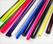 "1"" diameter FL Purple Extruded Acrylic Rod - 72"""