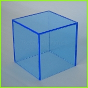 "Fl. Blue 5 Sided Display Cube 10"" x 10"" x 10"" (1/4"")"