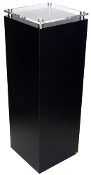 "Black & Clear Square Pedestal w/stand-off - 24"" x 14"""