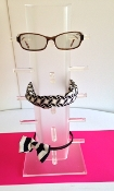 Free Standing Headband/Glasses Display - Clear & Frosted (2)