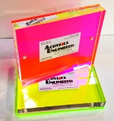 Heavy Free-Standing Magnetic Picture Frame - Fl. Pink/Red - (8)