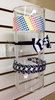 Slat Wall Headband/Sweatband Cylinder Display