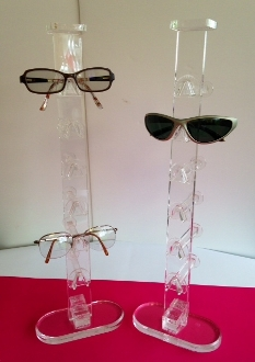 Free Standing Glasses/Sunglasses Display - Clear - Qty of 8