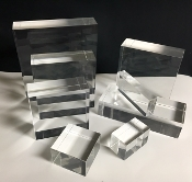 "Clear Lucite/acrylic Solid Block 10"" wide x 10"" long x 2"" thick"